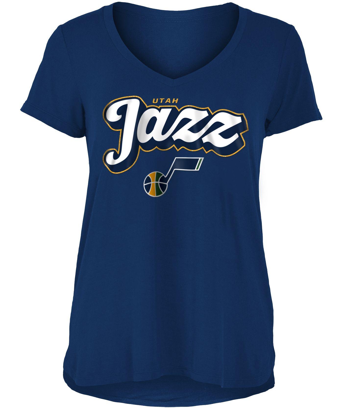 New Era Women's Utah Jazz V-Neck T-Shirt