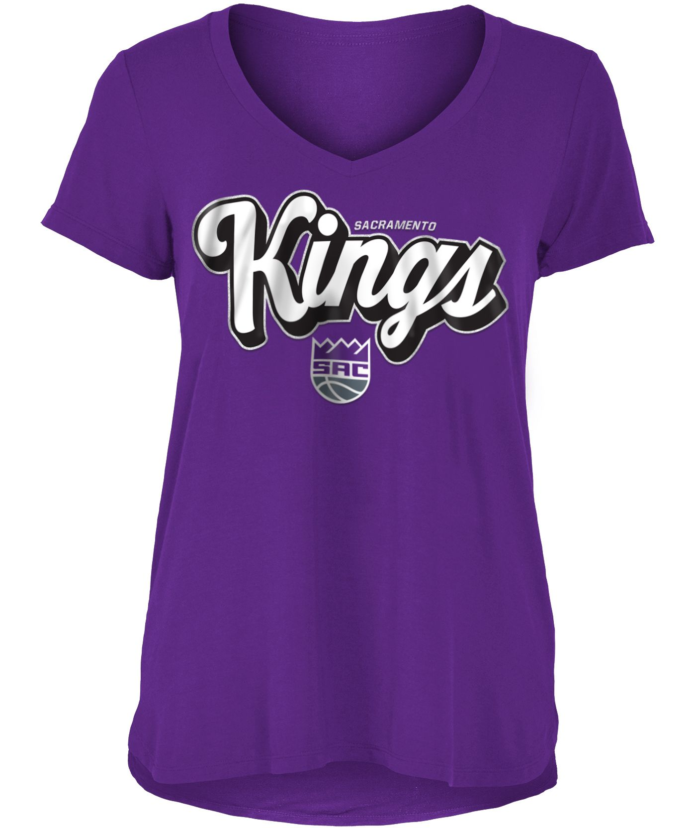 New Era Women's Sacramento Kings V-Neck T-Shirt