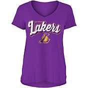 New Era Women's Los Angeles Lakers V-Neck T-Shirt