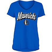 New Era Women's Dallas Mavericks V-Neck T-Shirt