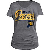 New Era Women's Indiana Pacers Tri-Blend Grey V-Neck T-Shirt