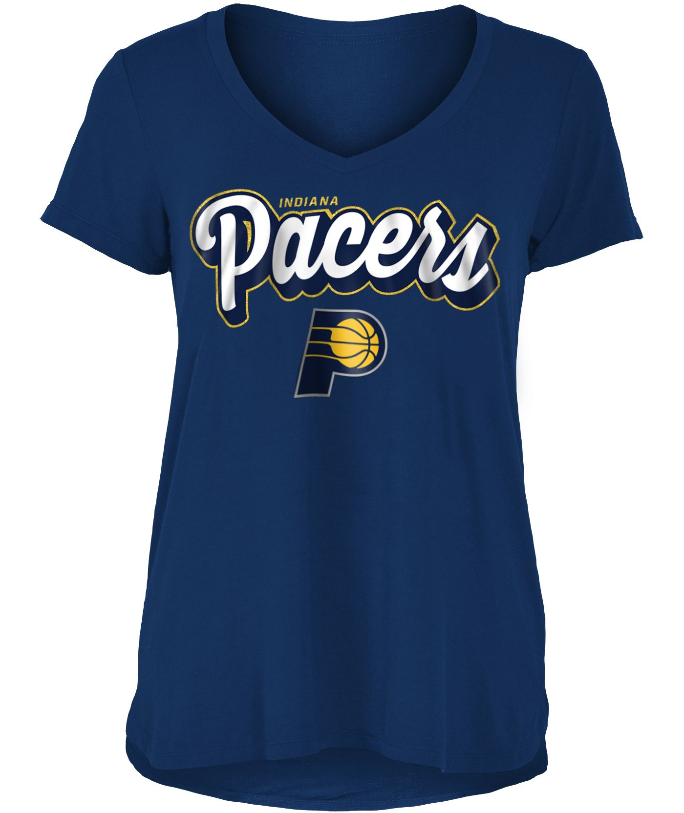 New Era Women's Indiana Pacers V-Neck T-Shirt