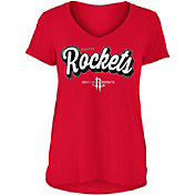 New Era Women's Houston Rockets V-Neck T-Shirt