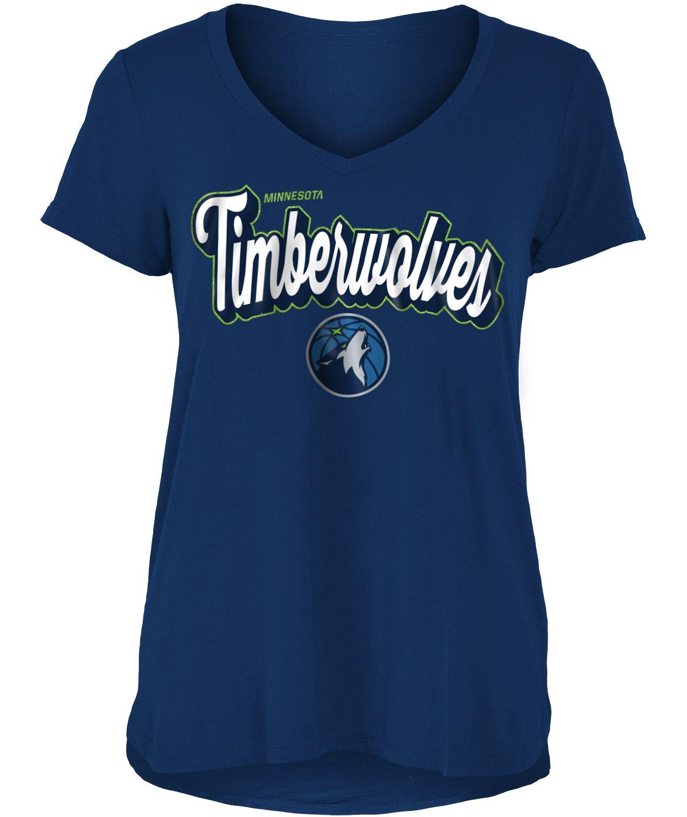 New Era Women's Minnesota Timberwolves V-Neck T-Shirt