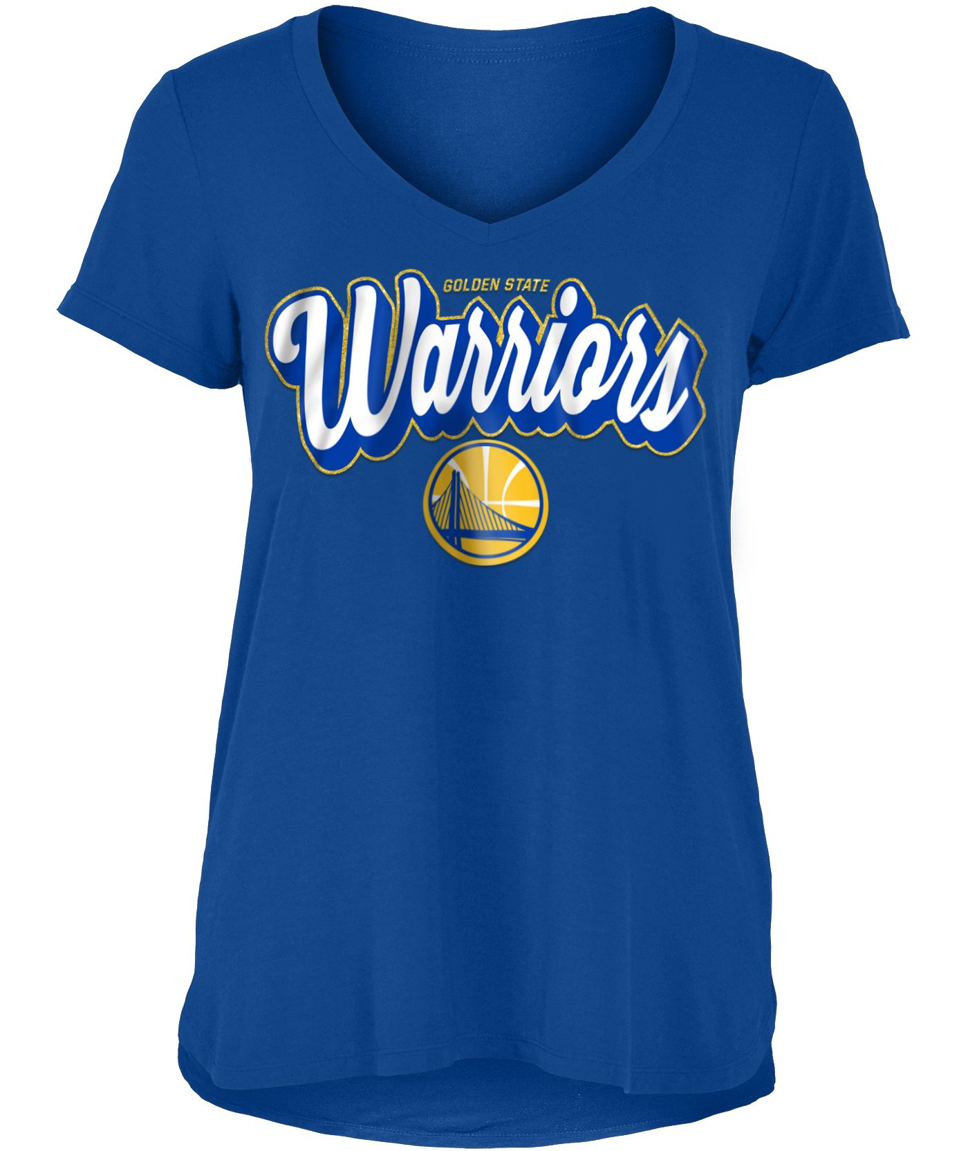 New Era Women's Golden State Warriors V-Neck T-Shirt
