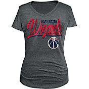New Era Women's Washington Wizards Tri-Blend Grey V-Neck T-Shirt