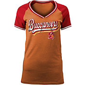 NFL Team Apparel Women's Tampa Bay Buccaneers Retro Glitter T-Shirt