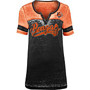 NFL Team Apparel Women's Cincinnati Bengals Foil Burnout V-Neck T-Shirt