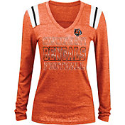 NFL Team Apparel Women's Cincinnati Bengals Tri-Blend Foil Orange Long Sleeve Shirt
