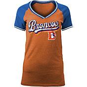 NFL Team Apparel Women's Denver Broncos Retro Glitter T-Shirt