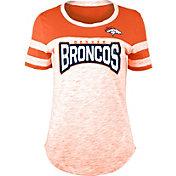 NFL Team Apparel Women's Denver Broncos Space Dye Rhinestone T-Shirt