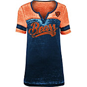 NFL Team Apparel Women's Chicago Bears Foil Burnout V-Neck T-Shirt