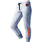 NFL Team Apparel Women's Chicago Bears Space Dye Heathered Navy Sweatpants