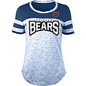 NFL Team Apparel Women's Chicago Bears Space Dye Rhinestone T-Shirt