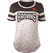 NFL Team Apparel Women's Cleveland Browns Space Dye Rhinestone T-Shirt