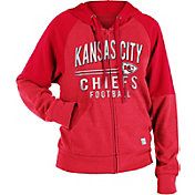 NFL Team Apparel Women's Kansas City Chiefs Glitter Tri-Blend Fleece Full-Zip Hoodie