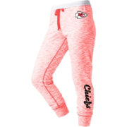 NFL Team Apparel Women's Kansas City Chiefs Space Dye Heathered Red Sweatpants