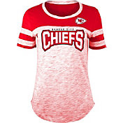 NFL Team Apparel Women's Kansas City Chiefs Space Dye Rhinestone T-Shirt