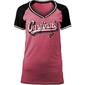 NFL Team Apparel Women's Arizona Cardinals Retro Glitter T-Shirt