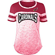 NFL Team Apparel Women's Arizona Cardinals Space Dye Rhinestone T-Shirt