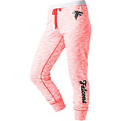 NFL Team Apparel Women's Atlanta Falcons Space Dye Heathered Red Sweatpants