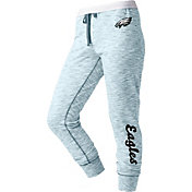 NFL Team Apparel Women's Philadelphia Eagles Space Dye Heathered Teal Sweatpants