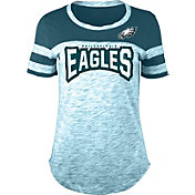 NFL Team Apparel Women's Philadelphia Eagles Space Dye Rhinestone T-Shirt