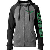 NFL Team Apparel Women's Philadelphia Eagles Throwback Grey Full-Zip Hoodie