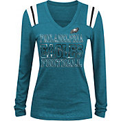 NFL Team Apparel Women's Philadelphia Eagles Tri-Blend Foil Green Long Sleeve Shirt