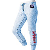 NFL Team Apparel Women's New York Giants Space Dye Heathered Blue Sweatpants