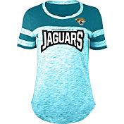 NFL Team Apparel Women's Jacksonville Jaguars Space Dye Rhinestone T-Shirt