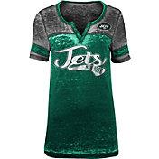 Product Image · NFL Team Apparel Women s New York Jets Foil Burnout V-Neck T -Shirt b85c7a7c4