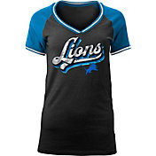 NFL Team Apparel Women's Detroit Lions Retro Glitter T-Shirt