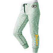 NFL Team Apparel Women's Green Bay Packers Space Dye Heathered Green Sweatpants