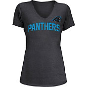New Era Women's Carolina Panthers Block Rhinestone Black T-Shirt