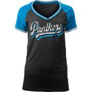 2b7f79c39 NFL Team Apparel Women s Carolina Panthers Retro Glitter T-Shirt ...