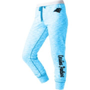 NFL Team Apparel Women's Carolina Panthers Space Dye Heathered Blue Sweatpants