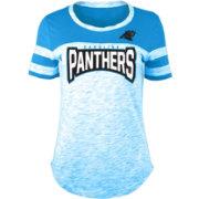 24aee66ffcd NFL Team Apparel Women s Carolina Panthers Space Dye Rhinestone T-Shirt