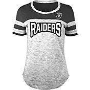 NFL Team Apparel Women's Oakland Raiders Space Dye Rhinestone T-Shirt