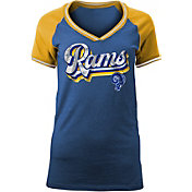 NFL Team Apparel Women's Los Angeles Rams Retro Glitter T-Shirt