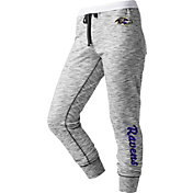 NFL Team Apparel Women's Baltimore Ravens Space Dye Heathered Purple Sweatpants