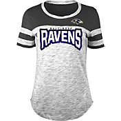 NFL Team Apparel Women's Baltimore Ravens Space Dye Rhinestone T-Shirt