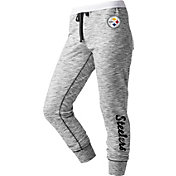 NFL Team Apparel Women's Pittsburgh Steelers Space Dye Heathered Black Sweatpants