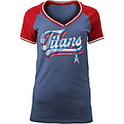 NFL Team Apparel Women's Tennessee Titans Retro Glitter T-Shirt