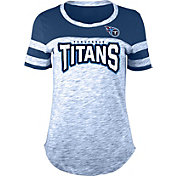 NFL Team Apparel Women's Tennessee Titans Space Dye Rhinestone T-Shirt