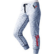 NFL Team Apparel Women's Houston Texans Space Dye Heathered Navy Sweatpants