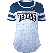 NFL Team Apparel Women's Houston Texans Space Dye Rhinestone T-Shirt