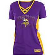 NFL Team Apparel Women's Minnesota Vikings Mesh Lace Vikings T-Shirt