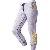 NFL Team Apparel Women's Minnesota Vikings Space Dye Heathered Purple Sweatpants