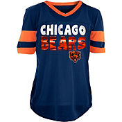 NFL Team Apparel Girls' Chicago Bears Mesh Navy Jersey Top
